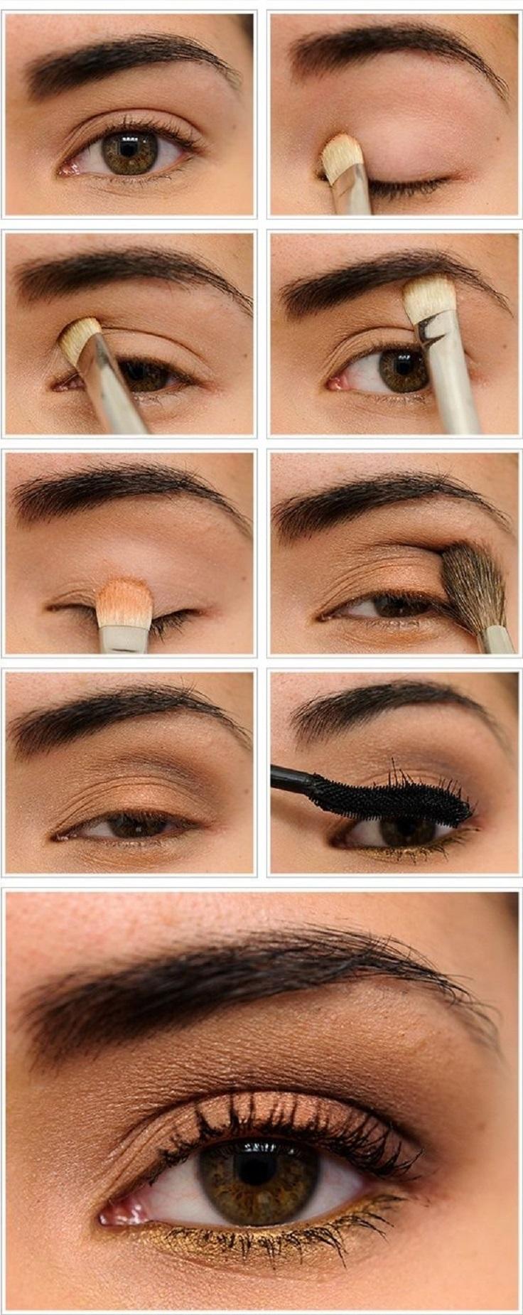 Накрасить глаза карандашом пошагово фото