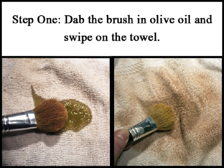 olive-oil-makeup-brushes