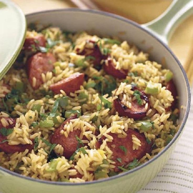 rice-and-sausage