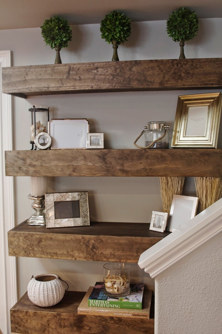 Top 10 diy living room decoration ideas creating unique designs with floating shelves home - Living room wall shelf ...