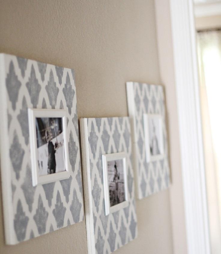stenciled-photo-frames