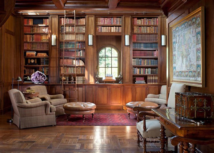 Top 10 inspiring home library design ideas top inspired for Home library ideas design