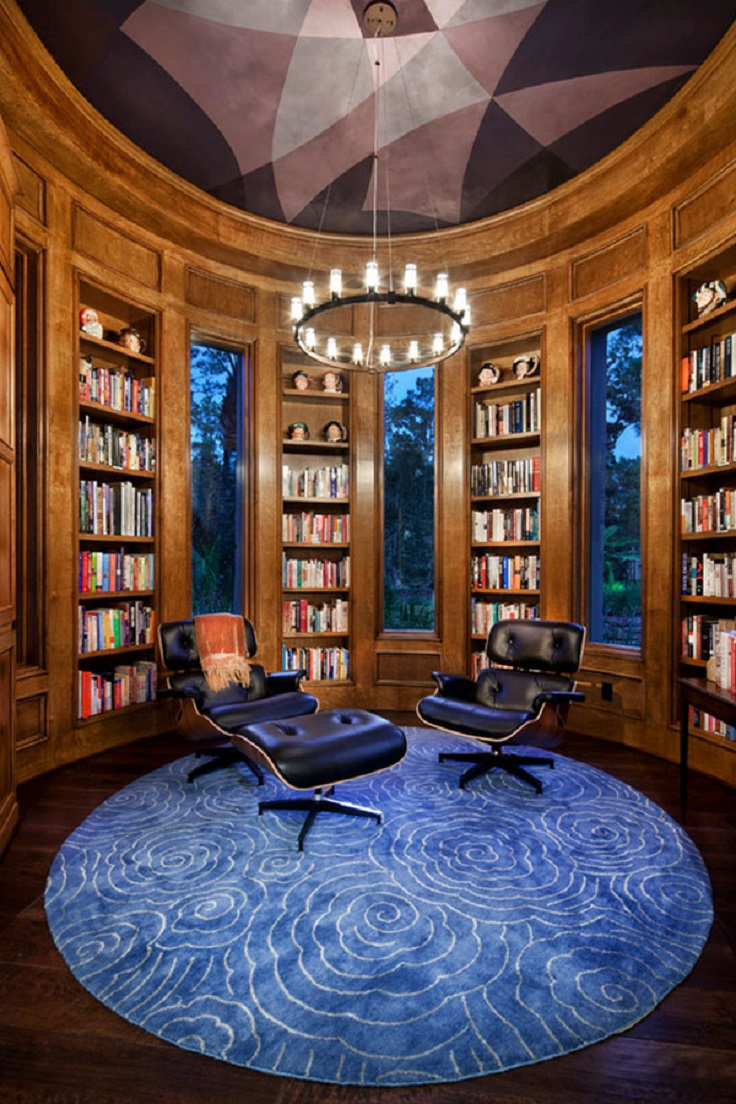 Top 10 inspiring home library design ideas top inspired for Cozy reading room design ideas