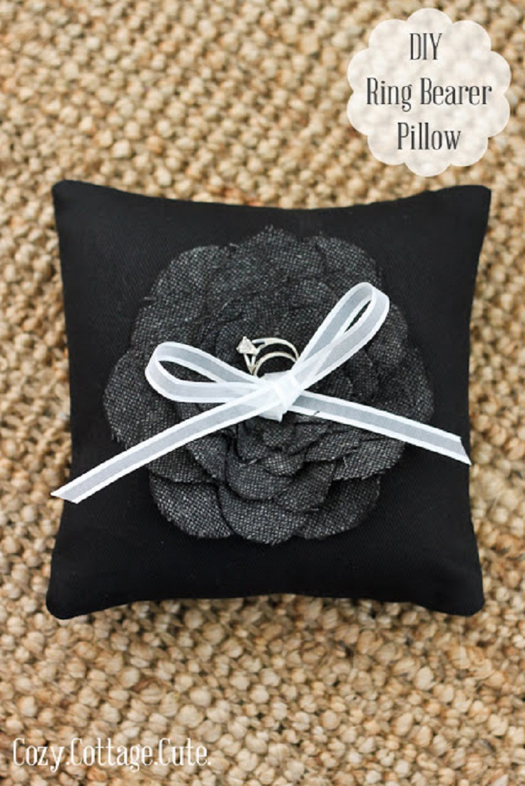 Top 10 diy tutorials for making your own wedding ring pillows for Diy ring bearer