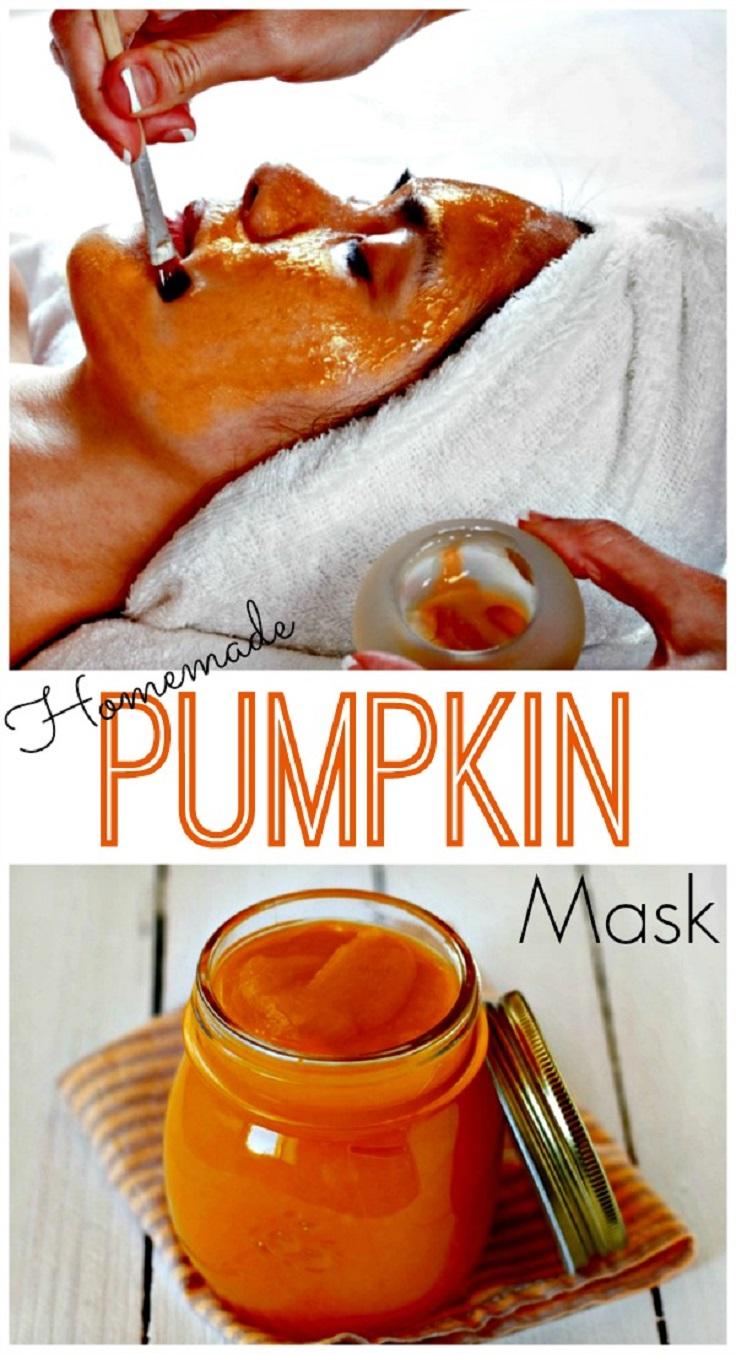 mask facial Pumpkin as