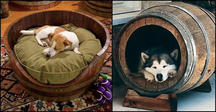Wine-Barrel-Dog-Bed