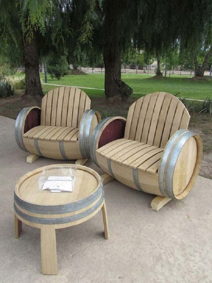 barrel-garden-bench