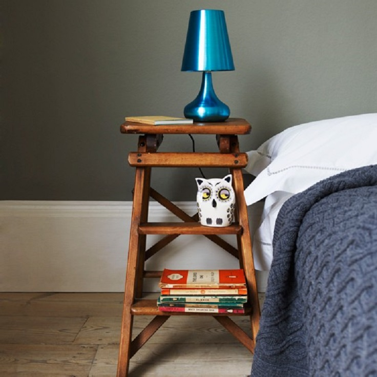 Elegant Ladder Bedside Table