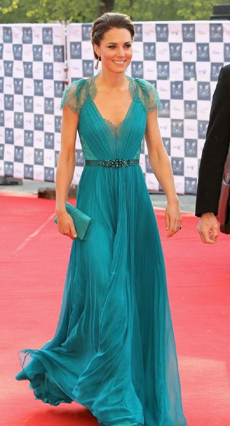 kate-middleton-in-jenny-packham-teal-dress