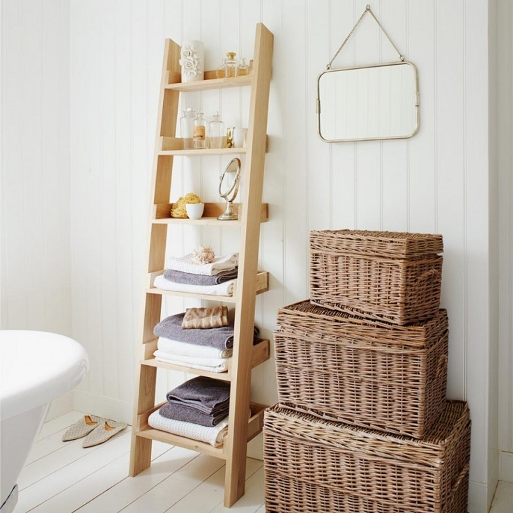 Top 10 ways to use your rustic ladder when decorating - Decorative ladder for bathroom ...