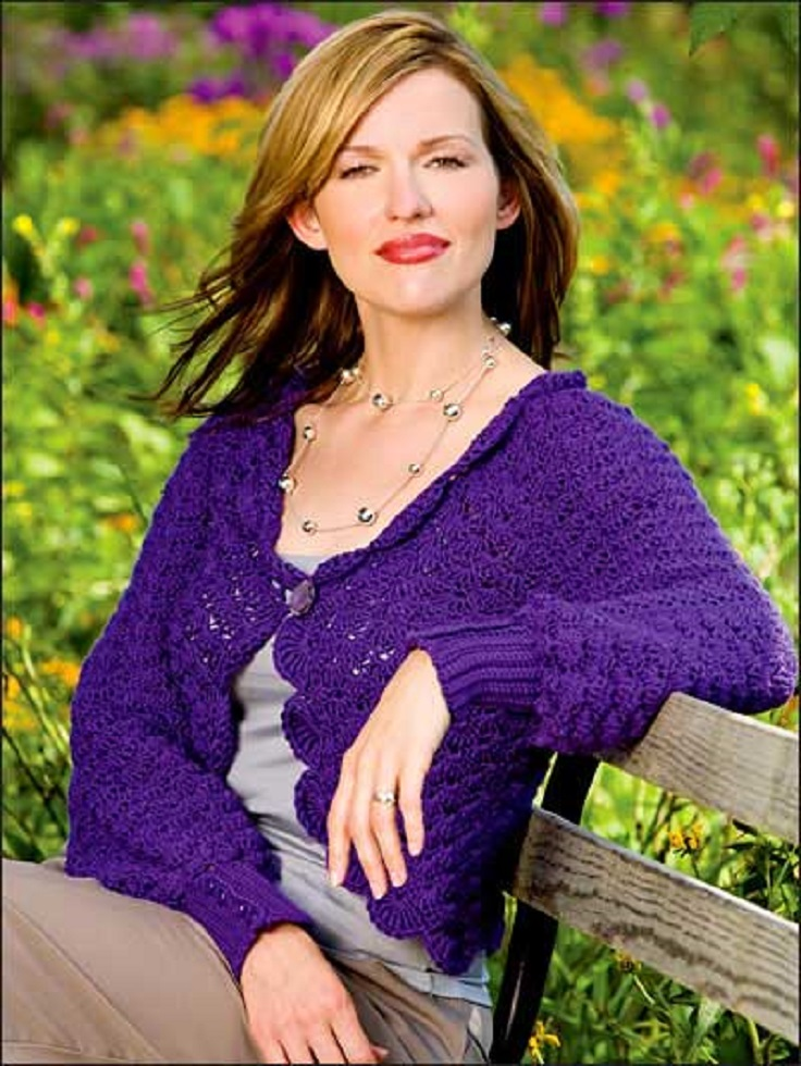 TOP 10 Free Crochet Patterns for Stylish Spring Inspired Cardigans