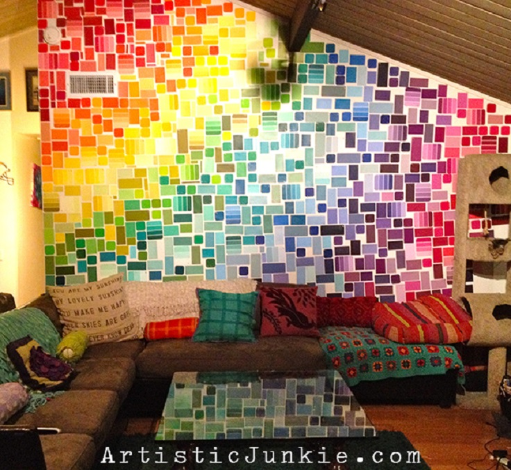 Top 10 things to do with paint chip samples top inspired for Things to paint on your wall