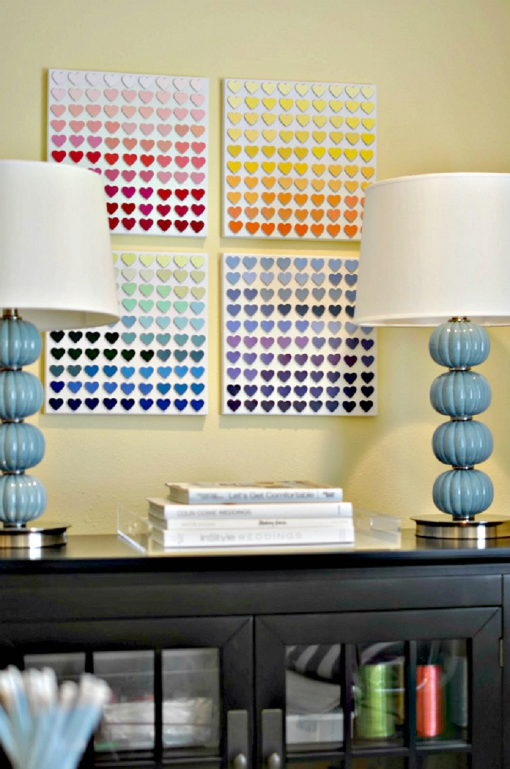 Awesome Decorate Wall With Paint Samples Vignette