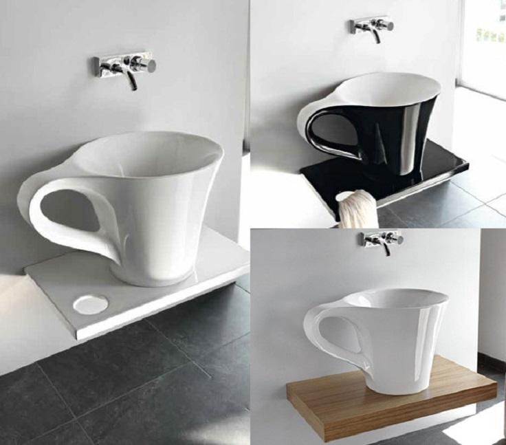 3 Coffee Cup Bathroom Sink Design