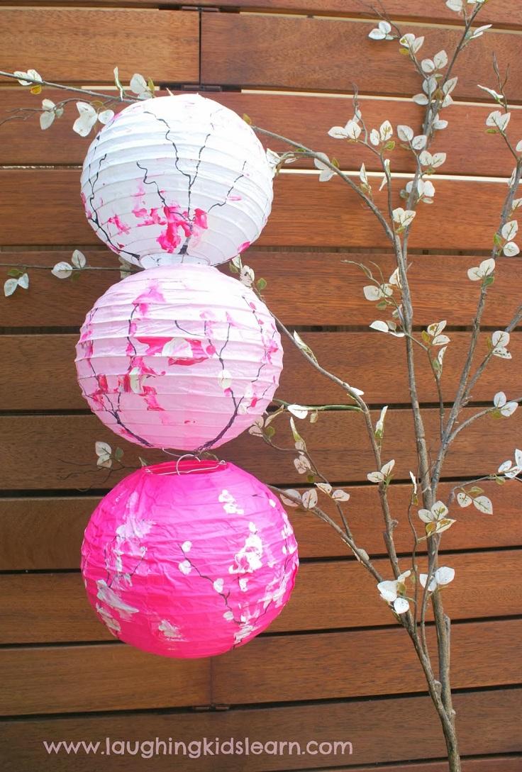 Японские фонарики из бумаги