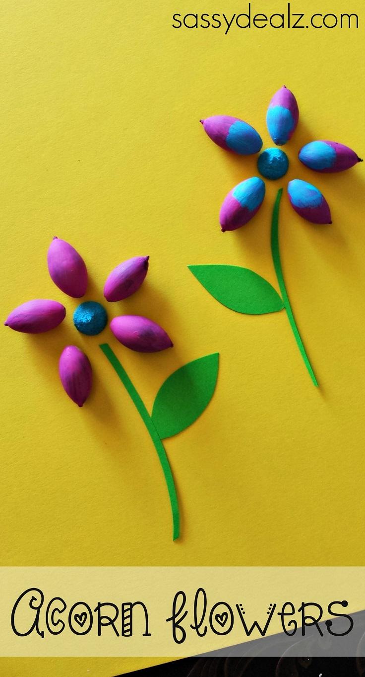 Acorn-Flower-Craft-for-Kids