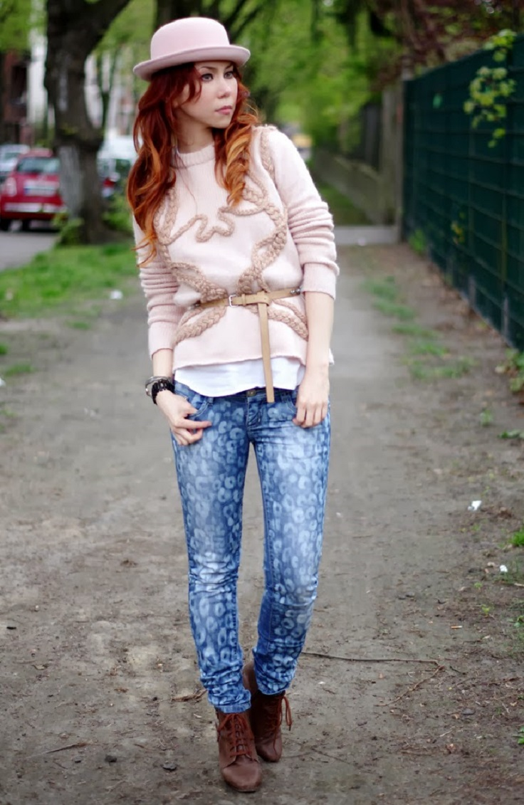 Bleached-Patterned-jeans
