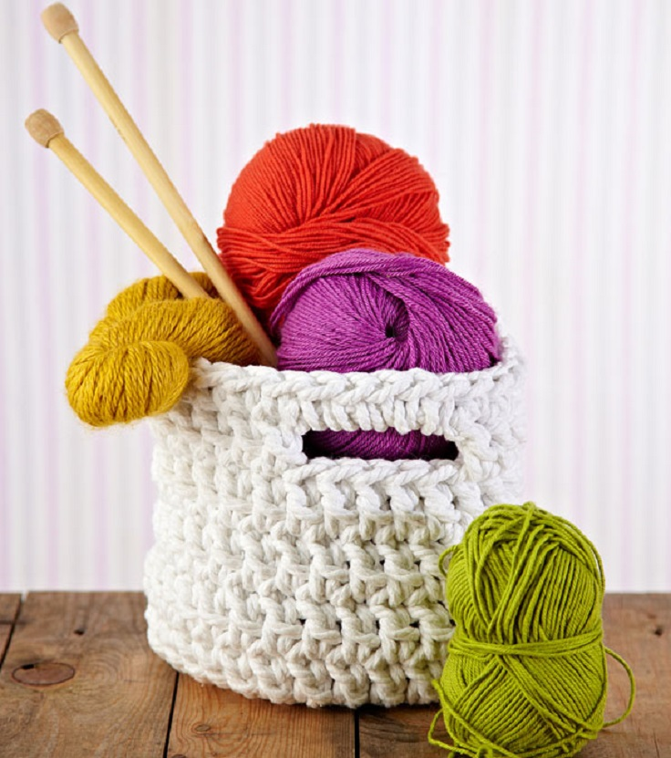 Chunky-crochet-storage-tubs