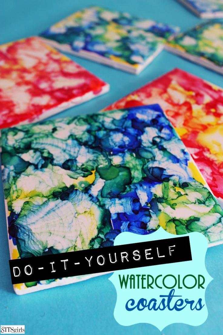 Coaster-Making-Fun-with-Watercolors