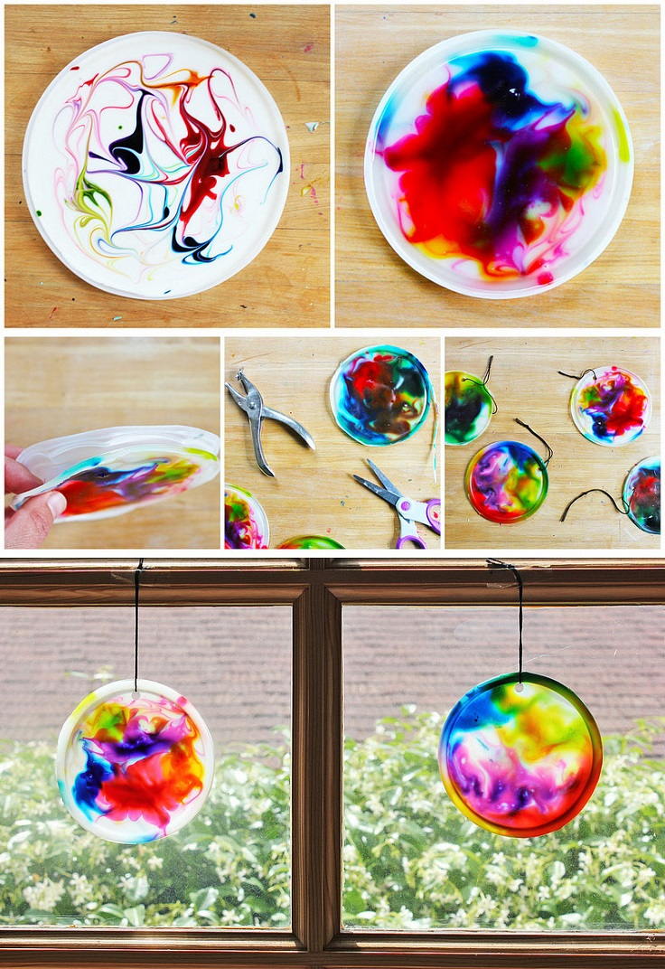 Top 10 cool diy suncatchers to make this spring for Fast drying paint for crafts