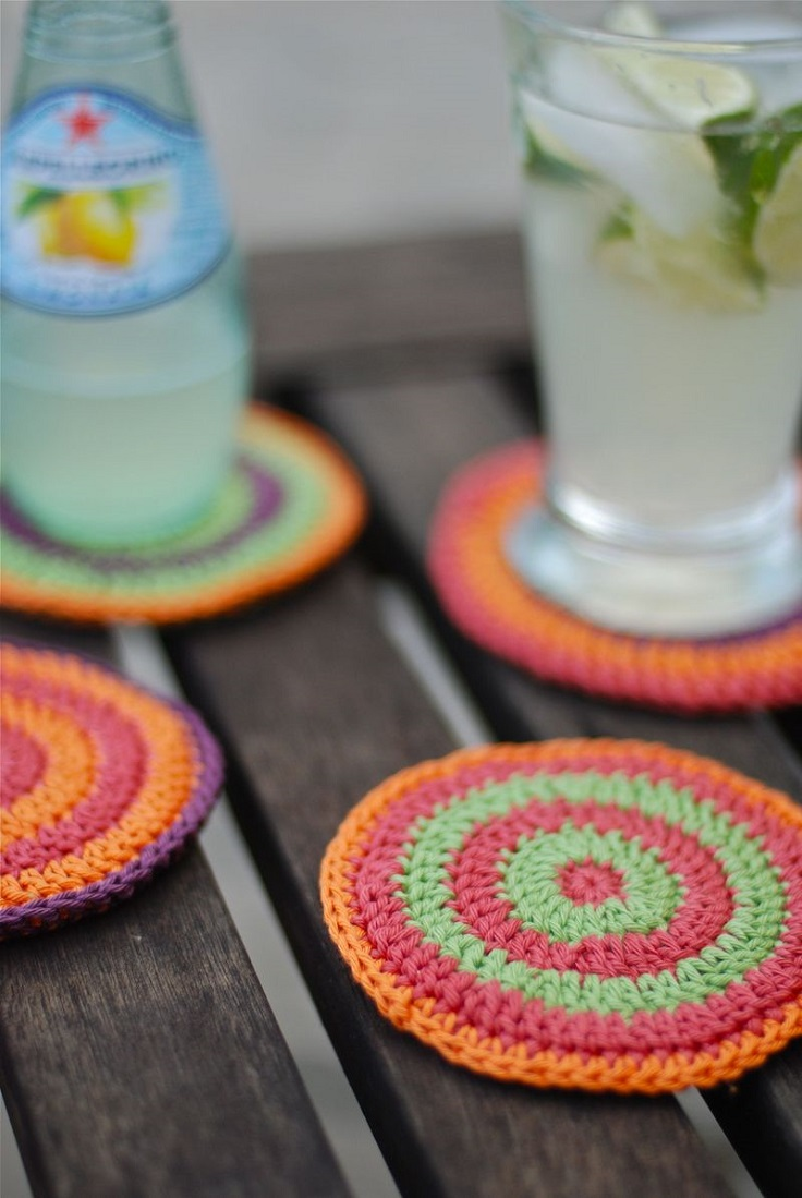 Cotton-yarn-coasters