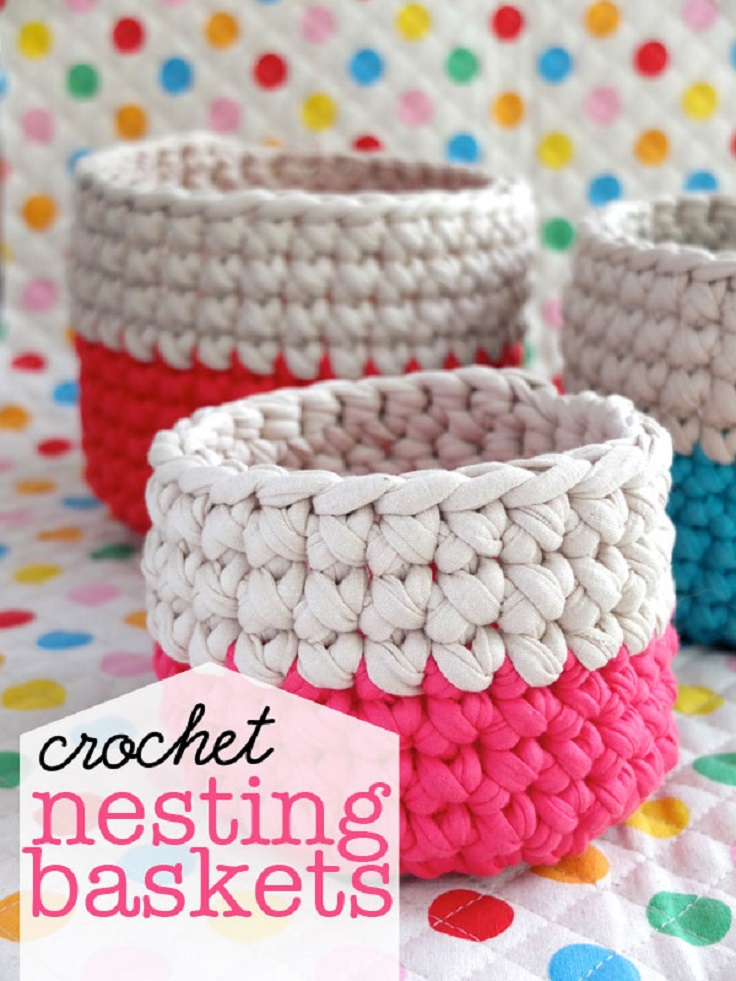 Free Crochet Pattern Newborn Nesting Bowl : TOP 10 Free Crochet Baskets and Bowls Patterns - Top Inspired