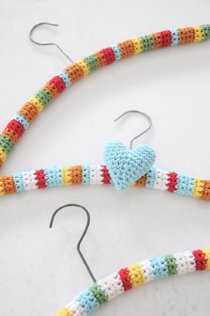Crocheting On A Hanger : Crochet-hanger-covers