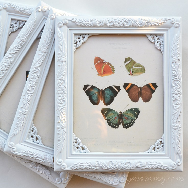 Diy Shabby : DIY Shabby Chic Butterfly Art For $1