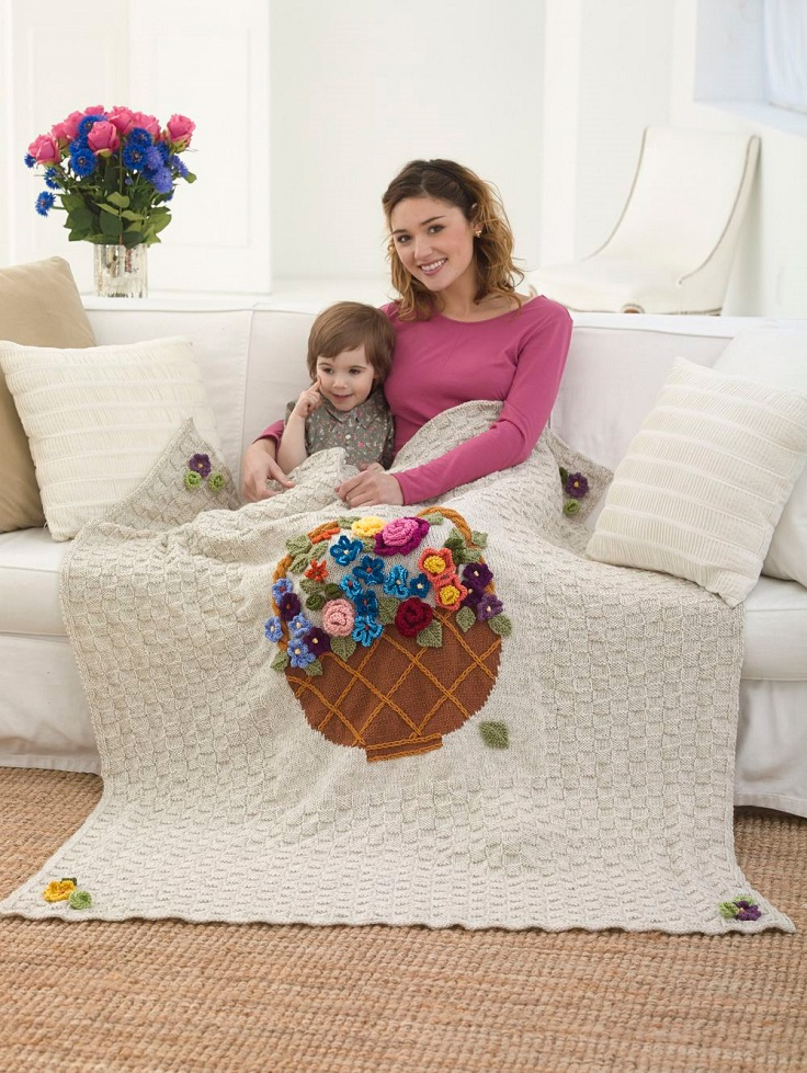 Free-Knitting-Pattern-Flower-Basket