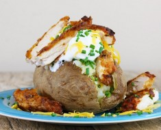 Fried-Chicken-Stuffed-Baked-Potato