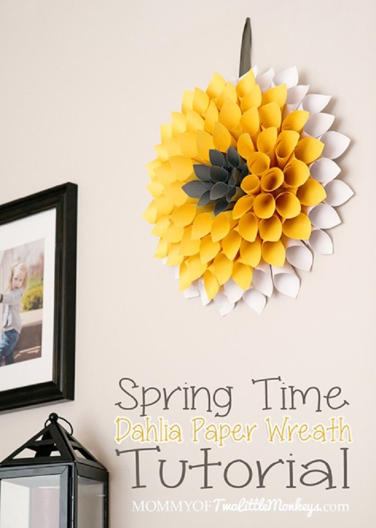how to make a dahlia paper wreath for under 10