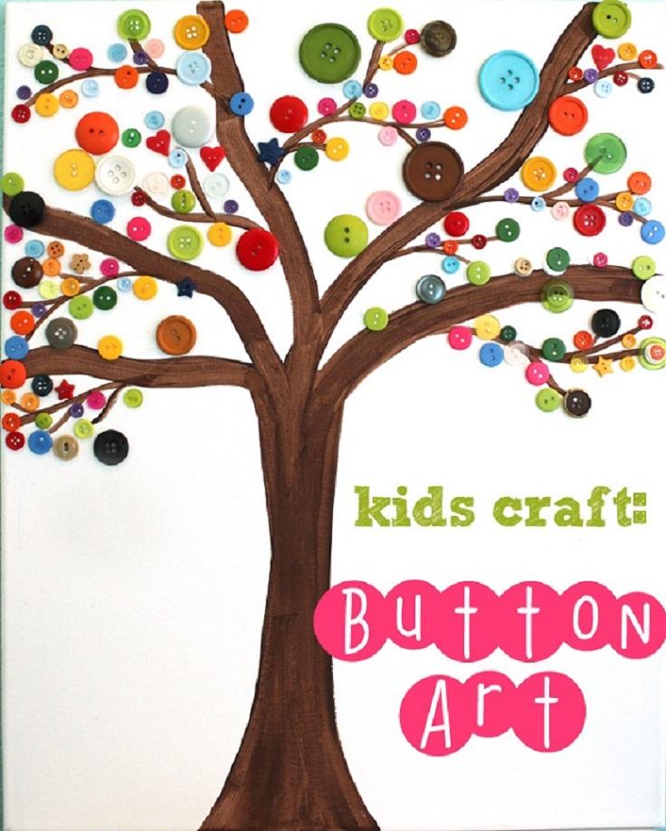 Kids-Craft-Button-Art