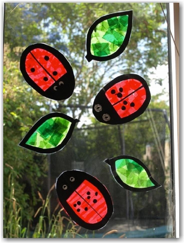 Ladybug-Suncatchers