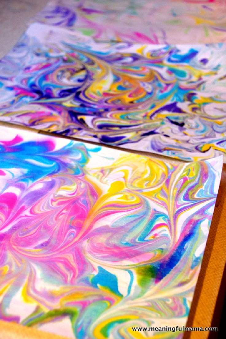 TOP 10 Fantastic Ways to Make Marbled Paper
