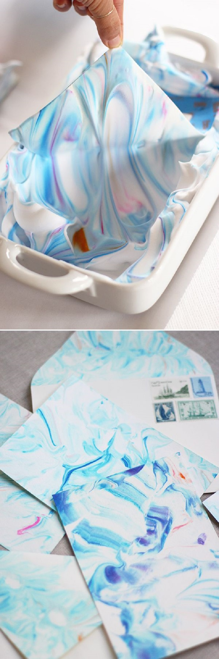 Marbling-Paper-with-Shaving-Cream