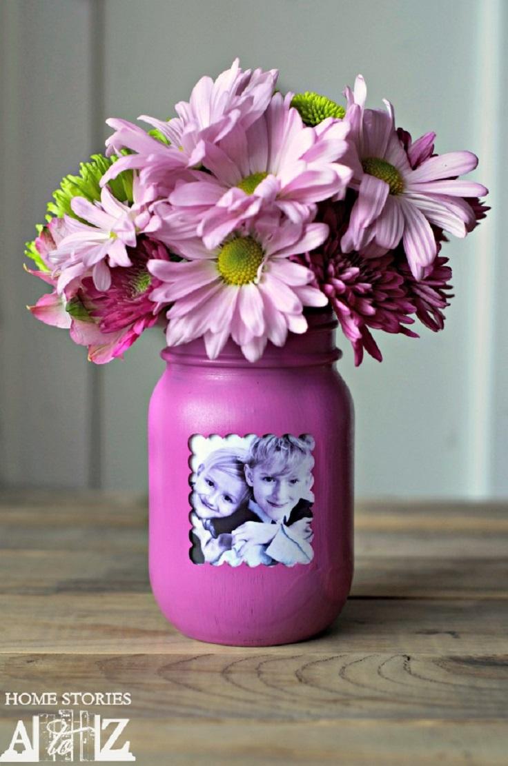 Mason-Jar-Photo-Frame-Vase-in-Radiant-Orchid