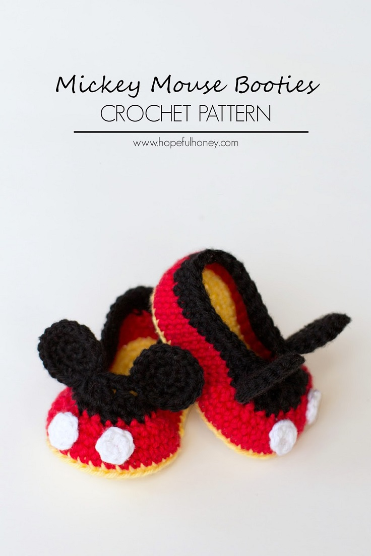 Free Crochet Pattern For Mickey Mouse Shoes : TOP 10 Free Crochet Patterns Inspired by Disney