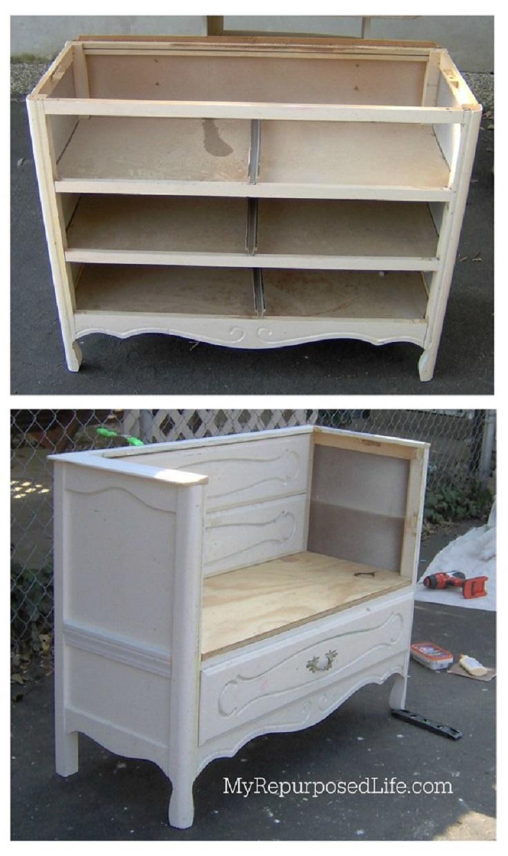 Dresser repurposed as bathroom vanity - Top 10 Clever Ways To Repurpose An Old Dresser