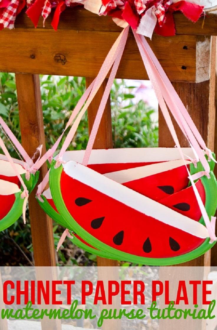 Paper-Plate-Watermelon-Purse-Tutorial