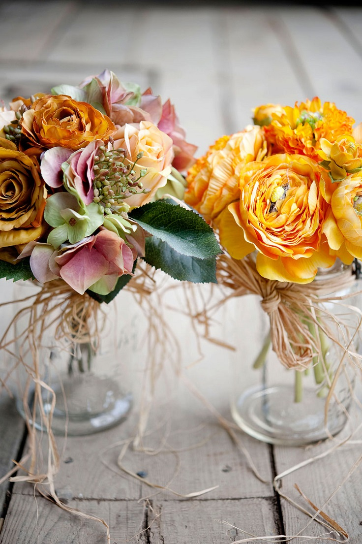 Decorating With Raffia 10 Ways To Make Mason Jar Flower Arrangements