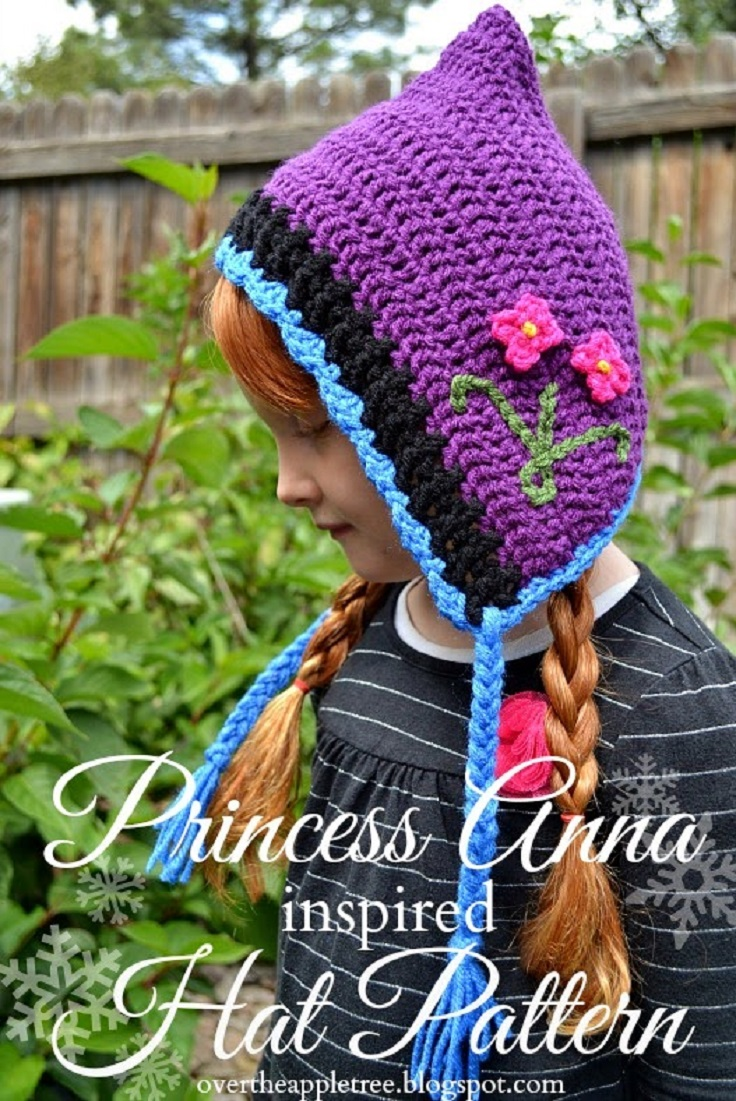 Princess-Anna-Crochet-Hat