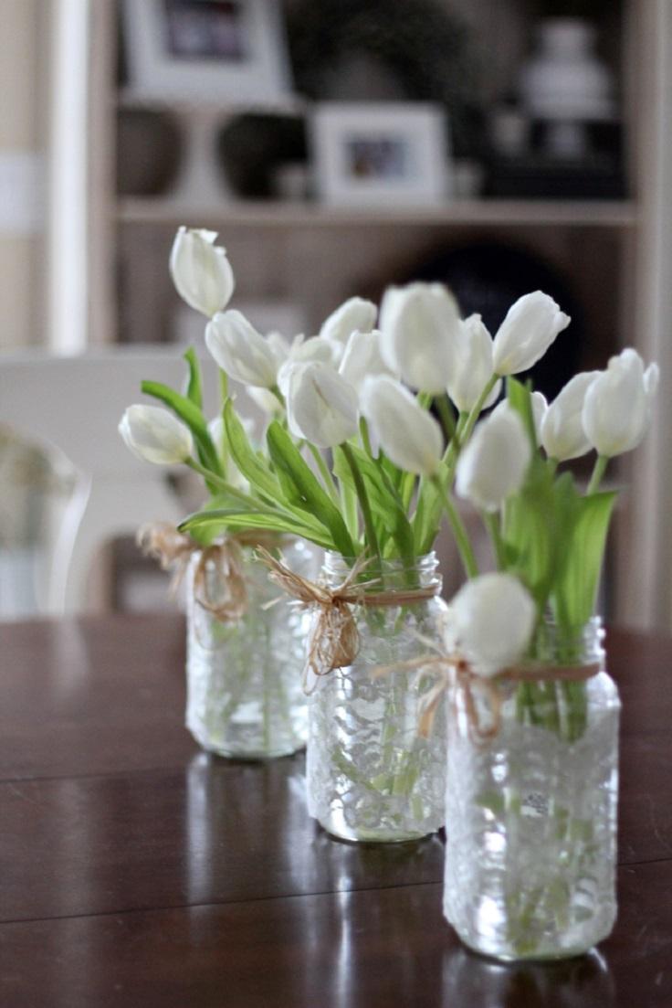 Rustic-Lace-Mason-Jar-Flower-Arrangements