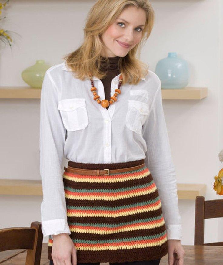 Striped-Mini-Skirt