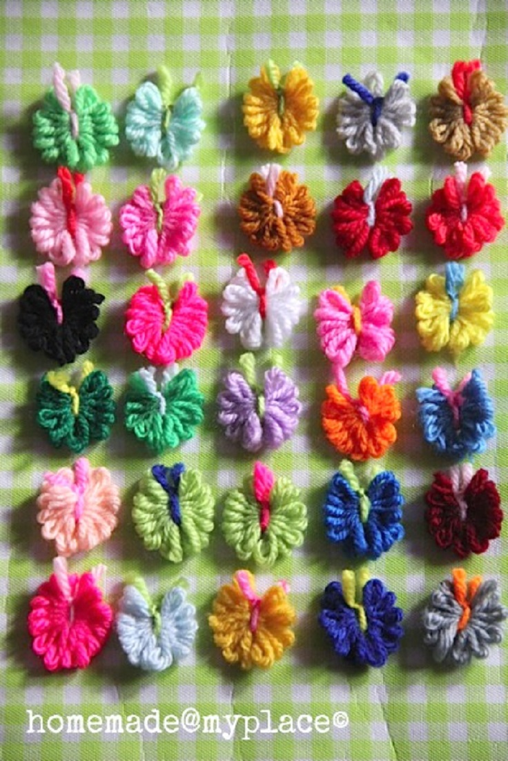 Sweet-tiny-yarn-butterflies