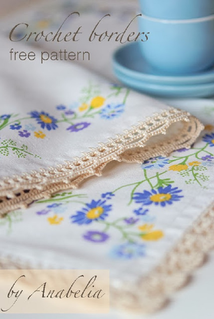 TOP 10 Free Crochet Patterns For Borders, Edgings and Trims