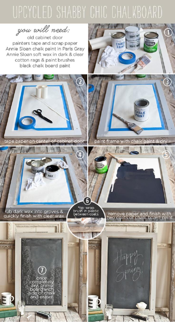 Upcycled-Shabby-Chic-Chalkboard