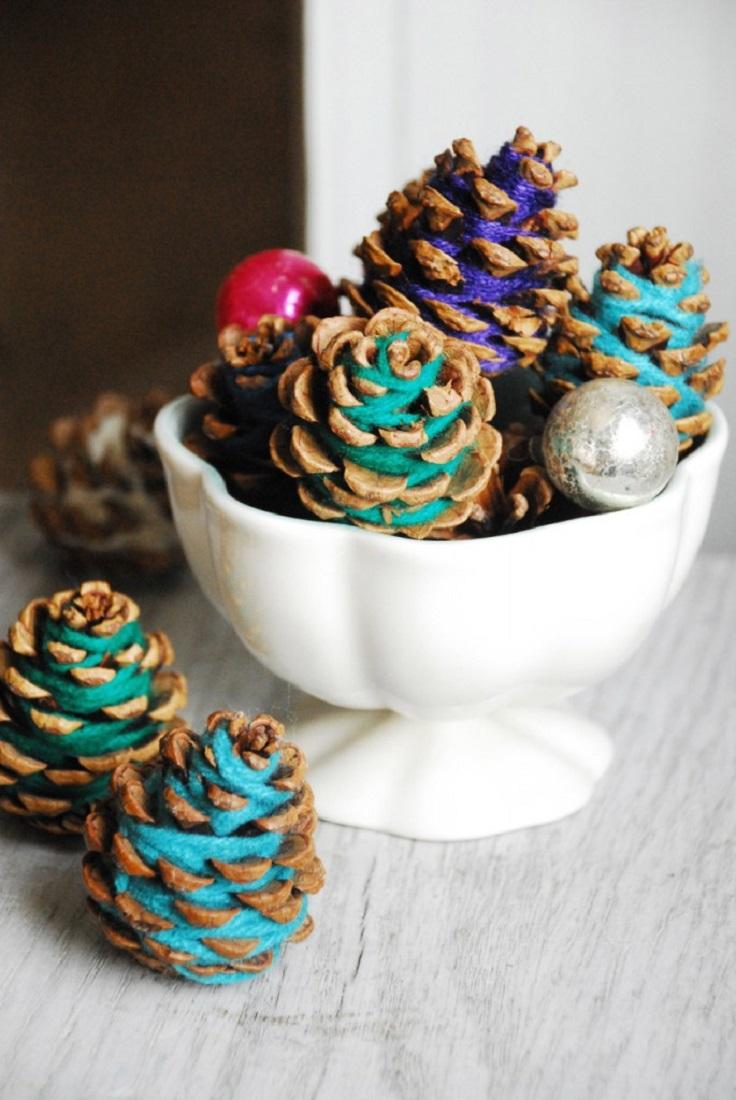 Yarn-Pine-Cones