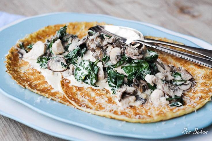 creamy-chicken-spinach-pancakes