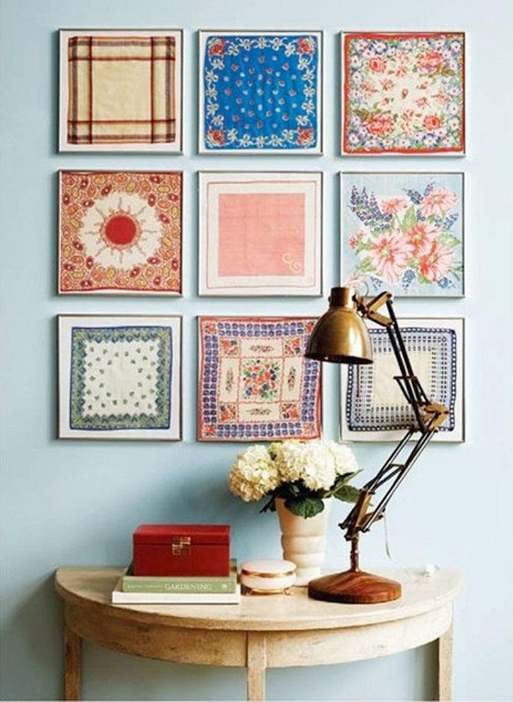 framed-vintage-handkerchiefs