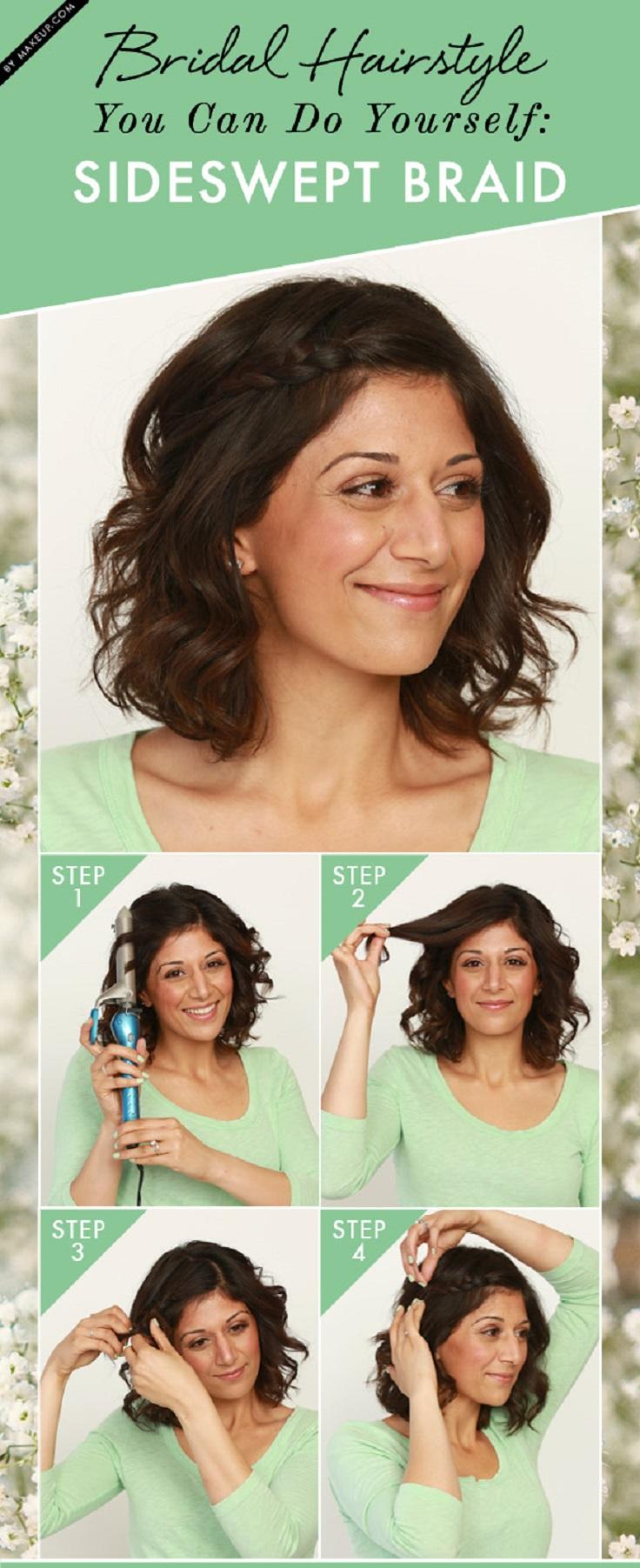 Outstanding Top 10 Diy Easy Wedding Hairstyles Top Inspired Short Hairstyles Gunalazisus